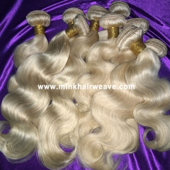 Mink Hair Weave 613 color Body Wave Wholesale Mink Hair, Mink Brazilian Hair, Mink Platinum Blonde Hair