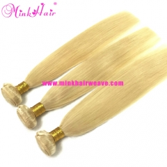 10A Wholesale Brazilian Hair #613 Silky Straight Mink Platinum Blonde Hair