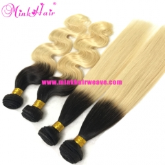 Wholesale Mink Hair Product Ombre 1B/613 Blonde Hair