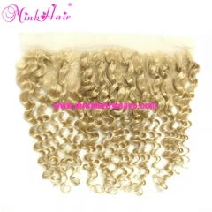 The Real Mink Hair Vendor Lace Frontal Blonde Deep Wave