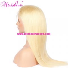 Mink Hair Weave Company 10A Grade Silky Straight Blonde Full Lace Wig