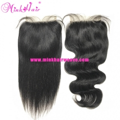 Mink Brazilian 5*5 Lace Closure 150% Density Pre-Plucked with Baby Hair Closure