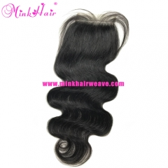 Lace Closure Body Wave 4*4 Brazilian Mink Hair Wavy 100% Virgin Human Hair