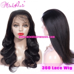 10A Grade 360 Lace Frontal Wig Pre Plucked With Baby Hair