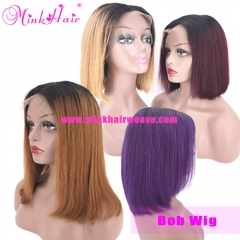 Ombre Bob Wig 150% Density 13*6 Lace Front 100% Human Hair Wig