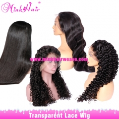 10A Grade Transparent Lace Wig From One Donor 150% Density Wig
