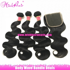 Free Shipping Mink Brazilian Body Wave Brazilian Hair Bundles Deal