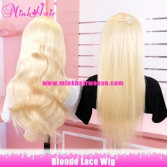 Mink Hair Blonde Lace Wig 180% Density Pre-Plucked With Baby Hair