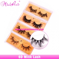 Luxurious 6D Volume False Mink Lashes Dramatic Look Lashes Suppliers and Manufacturer