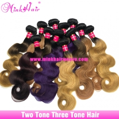 Shop Three Tone Hair And Two Tone Human Hair Ombre Hair Bundles Ombre Lace Frontal Closures
