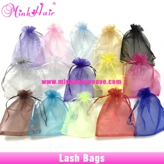 10pcs/lot 13*18cm Mink Lash Bags Organza Package Bag Lash Extensions Bag