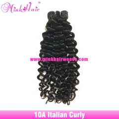 Italian Curly Affordable 10A Grade Mink Hair Factory 100% Virgin Hair Extensions