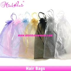 10pcs/lot Hair Bags Organza Bags Drawstring Package Bag 9 Colors 2 Sizes 30*40cm and 25*35cm