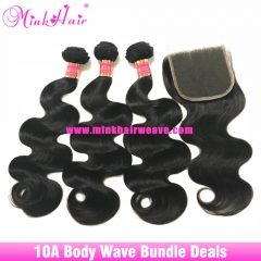 Free Shipping Mink Brazilian Body Wave Brazilian Hair Bundle Deal
