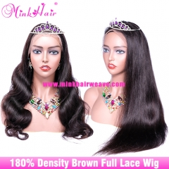 Brown Full Lace Wig 180% Density 10A