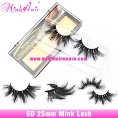25mm 5D Mink Lash Thick soft Natural Handmade Lashes