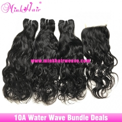 Free Shipping Bundle Deals Mink Brazilian Water Wave