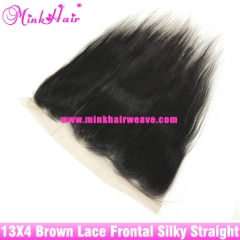 Brown Lace Wholesale 13*4 Lace Frontal Mink Brazilian Straight Hair