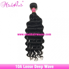 New Mink Brazilian Loose Deep Wave 10A Grade Virgin Mink Hair Weft