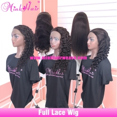 New Style Full Lace Wigs 20inch 150% Density Brown Lace For African American Women