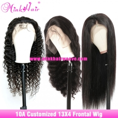New 13x4 Brown Lace Frontal Wigs 180% Density 10A Customized Wig