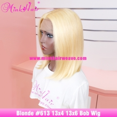 613 Blonde Bob Wig 100% Human Hair Colored Wig by Brazilian Hair Company
