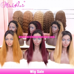 Ombre Colored Lace Front Wig 150% Density 13x6 Lace Wig