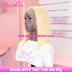 613 Blonde Bob Wig 13x4 Lace by Brazilian Hair Company