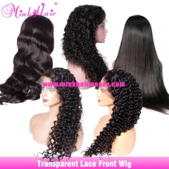 Transparent 13x4 13x6 Lace Front Wig 150% Density From Mink Brazilian Human Hair Wigs Vendor